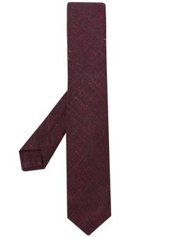 Kiton Brown Geometric Textured Tie