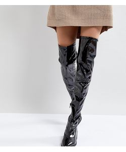 Monki glitter over the knee boots in